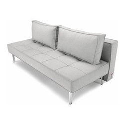 Innovation USA - Innovation USA | Sly Deluxe Sofa, Chrome Base - Quickship - Design by Per Weiss, 2005.