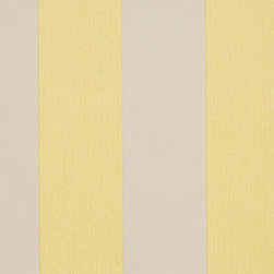 Romosa Wallcoverings - Mustard Yellow / Gray Awning Stripe Carnival Wallpaper - - This is a non woven wallpaper. Easy to hang.