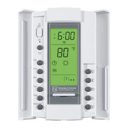 "WarmlyYours - WarmlyYours TH115-AF-GA-08 N/A  Thermostat SmartStat GFCI 5mA & AF - Thermostat SmartStat GFCI 5mA & AF Sensor Dual BrandedThis SmartStat- dual voltage programmable thermostat can be used with 120 volt and 240 volt floor heating systems. Includes an in-floor sensor and a digital display that indicates the exact floor temperature. It also features a manual set-back to a ""high"" and a ""low"" temperature level, and it features a built-in electric GFCI. The programmable function allows you up to 4 setting changes for each day of the week. For installations utilizing more than 240 square feet of electric radiant floor heating product, a Master Thermostat with Power Module or a Relay Contactor is also required.This SmartStat- dual voltage programmable thermostat can be used with 120 volt and 240 volt floor heating systems. Includes an in-floor sensor and a digital display that indicates the exact floor temperature. It also features a manual set-back to a ""high"" and a ""low"" temperature level, and it features a built-in electric GFCI. The programmable function allows you up to 4 setting changes for each day of the week. For installations utilizing more than 240 square feet of electric radiant floor heating product, a Master Thermostat with Power Module or a Relay Contactor is also required.In-floor sensor, will cycle the system and save you energyFor use with 120 volt and 240 volt floor heating systemsDigital display indicates exact floor temperatureBuilt-in GFCI safety with test light3-year warranty"