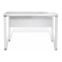 """Jesper Office Furniture - 500 Series 60"""" Desk in White Lacquer - Features:"""