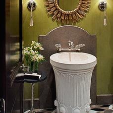 Traditional Bathroom Sinks by Jamie Herzlinger
