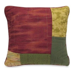 Donna Sharp - Donna Sharp Southwest Square Toss Pillow - Decorate your bedroom with the Southwest collection, featuring a stunning blend of earthy colors and patchwork design. This square toss pillow will coordinate beautifully with the bedding.
