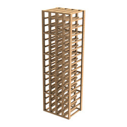 EcoWineracks 4 Column Upper Individual Bottle Rack, Natural Color, Clear Acrylic - EcoWineracks are the worlds only traditional style wine racks made from non-forested and sustainable bamboo. Bamboo is superior to wood in strength and durability, is non-warping and has consistent grain.