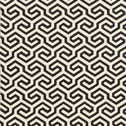 Schumacher - Ming Fret Fabric, Noir - 2 Yard Minimum Order
