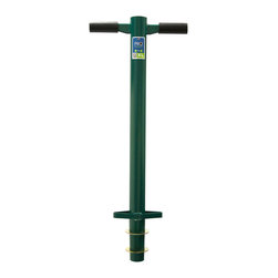 """ProPlugger - 5-IN-1 Planting Tool - Ideal for many planting projects around the landscape including planting bulbs, even larger diameter bulbs like daffodils and tulips. It is also well suited for plugging lawn grasses* such as Centipede, Zoysia, Bermuda and others (not recommended for St Augustine Grass).  Quickly digs holes/plugs that are 2-1/8"""" in diameter (about the size of a racket ball or a billiard ball), one right after another and all from a comfortable standing position.  Adapter plates allow you to vary the depth of the plugs you can pull from 2"""" to 4"""" and even 6"""" deep."""