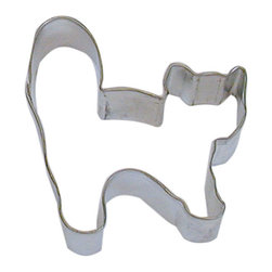 RM - Cat 3 In. B1192X - Cat cookie cutter, made of sturdy tin, Size 3 in., Depth 7/8 in., Color silver