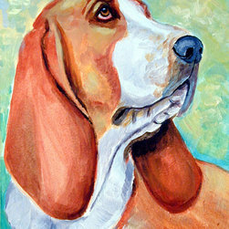 Caroline's Treasures - Basset Hound Flag Canvas House Size - Full size house flag is made from a 100% polyester heavy weight canvas material. Not your typical house flag that you might find from a mass merchant. These flags are only sold online and in specialty boutiques. This flag is much heavier than most flags currently being sold by other manufacturers. This flag is fade resistant and weather proof. The flag measures approximately 28 inches x 40 inches (wooden flag pole, hanging bracket or yard stand sold seperaletly)