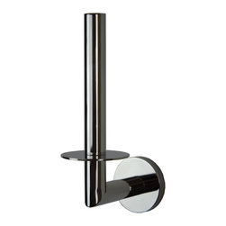 Manillons - Eco Inox Toilet Paper Holder - Eco Inox wall toilet paper roll holder with round back tap. Polished chrome. Drill required.