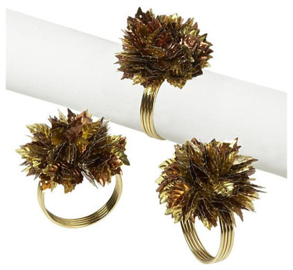 eclectic napkin rings by Crate&amp;Barrel