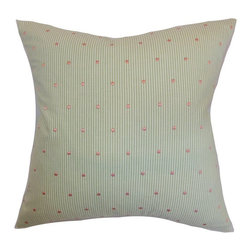Pillow Collection - The Pillow Collection Pampa Dots Pillow - Pink Green - P18-D-32544-PINKGREEN-C10 - Shop for Pillows from Hayneedle.com! Like a lady wearing a man's shirt The Pillow Collection Pampa Dots Pillow - Pink Green is the perfect blend of masculine and feminine. Made of 100% soft cotton this sweet square pillow features a plush 95/5 feather/down insert for ultra softness. The classic pinstripe pattern is elegantly finished with sweet pink dots for a unique and stylized look.About The Pillow CollectionIdentical twin brothers Adam and Kyle started The Pillow Collection with a simple objective. They wanted to create an extensive selection of beautiful and affordable throw pillows. Their father is a renowned interior designer and they developed a deep appreciation of style from him. They hand select all fabrics to find the perfect cottons linens damasks and silks in a variety of colors patterns and designs. Standard features include hidden full-length zippers and luxurious high polyester fiber or down blended inserts. At The Pillow Collection they know that a throw pillow makes a room.