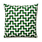 5 Surry Lane - HGTV Malachite Green Jigsaw Geometric Pillow - If you want to jazz up your living room without spending a fortune, consider this colorful, modern throw pillow with its high-resolution blend of hue and pattern. It comes in three eye catching colors.
