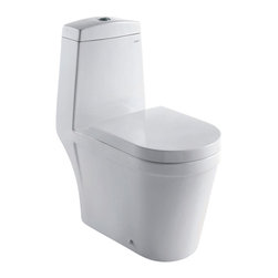 Ariel Bath - Ariel Royal CO1024 Dual Flush Toilet - Ariel cutting-edge designed one-piece toilets with powerful flushing system. Its a beautiful, modern toilet for your contemporary bathroom remodel.