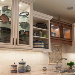 Dynasty, Marco & Kentwood, Cherry & Maple - Dynasty by Omega cabinetry in the Marco & Kentwood door styles, Cherry & Maple Opaque wood, Butternut/Onyx and Pearl/ Amaretto glaze.