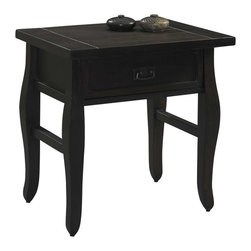 Linon - Linon Tahoe End Table in Brown - Linon - End Tables - 76057KRUS01KDU - The Tahoe Collection features a dark, rich finish and plank styling. The old world industrial look and feel of these pieces, along with their durable construction will ensure years of lasting beauty.