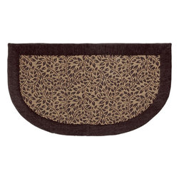 "Mohawk Home - Imports Brown Leaves Brown Transitional Leaves 20"" x 3' Slice Mohawk Rug - A simple way to add comfort and design to your kitchen. This cushioned mat that offers a cozy feel to your home decor. This mat features anti-fatigue memory foam and is stain resistant. Easy to clean, no bleach or detergent necessary, blot spills with a dry cloth & air dry.Non Woven Backing w/PVC Dots"