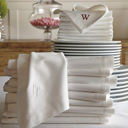 Hotel Dinner Napkins, White, Set of 12 - I use simple white cotton napkins, the kind used in restaurants. I buy them by the dozen.