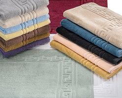 "Bed Linens - Egyptian Cotton 900GSM 2pc Bath Mat Set Bath Mat Silver - Set Includes:   Two Bath Mats 22""x35"" each"