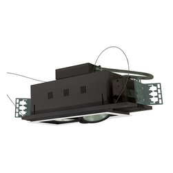 Jesco Lighting - Jesco MGP38-2-WB 2-Light Double Gimbal Linear Recessed Line Voltage Fixture - Jesco MGP38-2-WB 2-Light Double Gimbal Linear Recessed Line Voltage Fixture