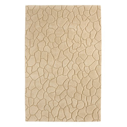 Dynamic Rugs - Dynamic Rugs Aria 1116-100 (Ivory) 5' x 8' Rug - Aria is a brand new handmade wool rug collection styled for Dynamic Rugs by Posh* Fashionation. Various textures of wool are combined to create a styling that is sure to add interest to any room. Aria is exquisitely hand tufted and then hand carved for added depth by master craftsmen in India. These rugs are styled largely of 100% un-dyed wool color shades, with some vivid dyed hues such as fashionable aquas accentuate the designs.