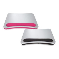"""Cohesion Products Ltd/import Div. - Portable Lap Desk with Wrist Pad - This portable lap desk features a soft beaded pillow that conforms to your lap. Lightweight and convenient, the extra-large work surface is ideal for holding widescreen laptops up to 17""""."""