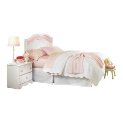 Standard Furniture - Standard Furniture Bubblegum 4-Piece Headboard Bedroom Set in White and Pink - Bubblegum bedroom is adorably cute and charmingly sweet, and is lavished with lots of girlie-girl details.