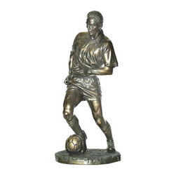 TLT - 8.25 Inch Cold Cast Bronze Finish Soccer Player Statue Figurine - This gorgeous 8.25 Inch Cold Cast Bronze Finish Soccer Player Statue Figurine has the finest details and highest quality you will find anywhere! 8.25 Inch Cold Cast Bronze Finish Soccer Player Statue Figurine is truly remarkable.