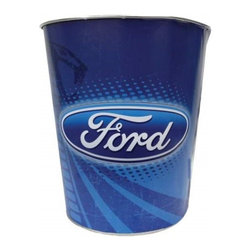 Westland - 10 Inch Ford Logo Mustang Cobra Tin Waste Basket/Trash Can, Blue - This gorgeous 10 Inch Ford Logo Mustang Cobra Tin Waste Basket/Trash Can, Blue has the finest details and highest quality you will find anywhere! 10 Inch Ford Logo Mustang Cobra Tin Waste Basket/Trash Can, Blue is truly remarkable.
