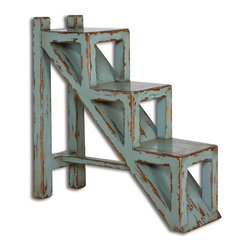 Uttermost - Asher Blue Accent Table - Asher Blue Accent Table