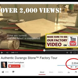 Factory Tour Video Milestone - Over 2,000 views on YouTube! Find out why producing marble limestone tile to the highest Italian standards sets Authentic Durango Stone™ apart in the industry.