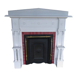 Consigned Vintage Fireplace Mantel Surround Antique Mantel Circa 1920's - What a great piece. This Fireplace surround looks great and has amazing detail. This is NOT a reproduction, but a vintage/antique piece that you won't see very often.