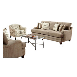 Chelsea Home Furniture - Chelsea Home Warren 3-Piece Living Room Set Upholstered in Wampum Taupe - Warren 3 Piece Living Room Set Upholstered in Wampum Taupe belongs to Verona VI collection by Chelsea Home Furniture.
