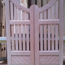 Bill Hussey - Gates - Pair of garden gates made to replace and match gates for a historic Charleston home. Photo and craftsmanship by Bill Hussey.