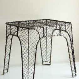 Woven Side Table - I'd never thought of chicken wire for furniture before, but it could work well for adding rustic texture or a bit of industrial style without going too hardcore. I see this next to something fluffy or in the kitchen with an egg basket on top for a cheeky display.