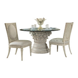 American Drew - American Drew Jessica McClintock Boutique 4-Piece Round Dining Room Set - 4 Piece Round Dining Room Set belongs to Jessica McClintock Boutique collection by American Drew