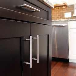 ... roll out trays in the island cabinets, and silverware/knife section