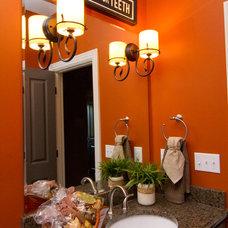 Eclectic Bathroom by Leslie Lewis & Associates