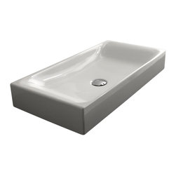 WS Bath Collections - 27.6 in. Ceramic Bathroom Sink - Includes mounting hardware. Counter top installation. Designer high end premium quality. Designed by Marc Sadler. Warranty: One year. Made from ceramic. White color. Made in Italy. 27.6 in. W x 13.8 in. D x 3.9 in. H (35 lbs.). Spec SheetKerasan by WS Bath Collections, designers high-end ceramic washbasins and sanitary ware with the greatest imaginable versatility in application. Models that adhere to the more current trends of design, harmony and elegance.