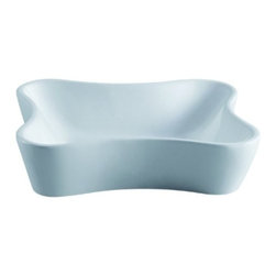 "Kingston Brass - Nuevo White China Vessel Bathroom Sink without Overflow Hole EV8126 - This vessel sink is an interesting-looking design with skewed curves on each of its corners with a bread-shaped layout.    The basin is measured at 4-3/4"" in depth 18-1/8"" long and 16-1/4"" wide) and is built in fine vitreous china for stain-resistance and long-lasting use.Manufacturer: Kingston BrassModel: EV8126UPC: 663370097515Product Name: White China Vessel Bathroom Sink without Overflow HoleCollection / Series: NuevoFinish: WhiteTheme: Contemporary / ModernMaterial: CeramicType: SinkFeatures: Finest vitreous china vessel with high chemical and thermal shock resistance"