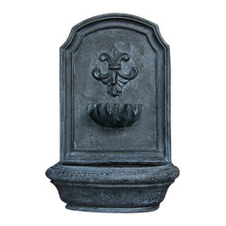 "Sunnydaze Decor - Noblesse Outdoor Wall Fountain Lead - Dimensions: 18""Wide x 10.5"" Deep x 26.5""High, 11 lbs"