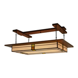 Mission Studio - Arts & Crafts Style,  Prairie Light Fixture Vintage #909 - Handcrafted in the USA is the Prairie Light Fixture Vintage #909 by Mission Studio.  Great for dining rooms, kitchens and living rooms.