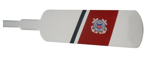 Handcrafted Nautical Decor - Wooden United States Coast Guard Decorative Boat House Oar w/ Hooks 36'' - Classically styled and hand-painted for authenticity, this Wooden United States Coast Guard Decorative Rowing Oar with Hooks 36'' is the perfect nautical  wall     art  for  any   beach home or  office. Breathing with the  atmosphere   of   the sea,  this nautical wood boat oar decoration is the perfect item to proudly display your connection to the sea. With hooks provided for easy placement and mounting, enjoy the nautical style of     this decorative star rowing oar  indoors  or out,  and  place  it   with pride. Three chrome hooks, ideal for hanging clothing and accessories, are included and can be hung anywhere on the oar--Look at our other wooden boat oar decor for sale: University  Rowing       Wood Boat Oars, Yacht Club Wood Oars, Rowing Club Wood Oars,     Collegiate   Wood Boat Oars, Decorative Rustic  Wood Oars and Decorative     Oars and   Paddles. Our wooden rowing boat oar decorations are   offered   with  and   without hanging hooks in the following sizes: 24'',   36'',  50'',  and  62''.----    Solid wooden oar - handcrafted by our master artisans--    Perfect nautical wall decor- hooks on the back of this oar allow for easy mounting--    --    Classic patriotic and nautical colors- red, white, and blue--    Carefully hand painted Coast Guard insignia--    Three solid chrome hooks included for hanging clothes and accessories--