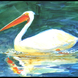 Caroline's Treasures - Bird - Pelican Indoor or Outdoor Mat 24 x 36 Doormat - Indoor / Outdoor Mat 24 x 36 - 24 inches by 36 inches. Permanently dyed and fade resistant. Great for the front door or the back door. Use this mat inside or outside. Use a garden hose or power washer to chase the dirt off of the mat. Do not scrub with a brush. Use the Vacuum on floor setting. Made in the USA. Clean stain with a cleaner that does not produce suds.