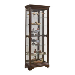 Pulaski - 80 in. Curio Cabinet with Mirrored Back - Side entry