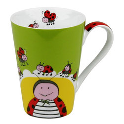 Konitz - Set of 4 Mugs Globetrotter Ladybug - The many moods of animals delight us. Charming animal illustrations make these adorable mugs in bright colors your steady companion for coffee, tea, or hot chocolate. Playful mugs feature lovable ladybug characters.