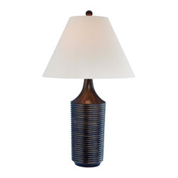 Lite Source - Brushed Bronze 1 Light Table Lamp with Fabric Shade from the Parson Collection - Lite Source LS-21367 Parson Table Lamp, Brushed Bronze This item by Lite Source comes in a brushed bronze finish. It is offered with off-white fabric sh