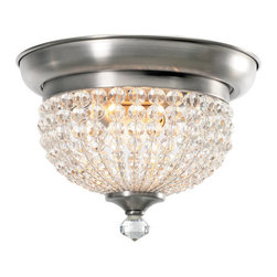Crystorama Lighting Group - Crystorama Lighting Group 6742-AP Crystal Two Light Flushmount Ceiling Fixture f - Crystorama 6742-AP Crystal Two Light Flushmount Ceiling Fixture from the Newbury CollectionAntique Pewter with Hand Cut Crystal Beads adorn this Flush Mount from the Newbury Collection.Newbury Collection is antique inspired series that matches the clear hand cut crystal beads and Satin Nickel Brass. Perfect for any transitional to traditional setting looking for an updated restoration style lighting accents.Features: