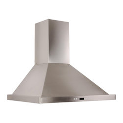 Cavaliere - Cavaliere-Euro SV218B2-I36 Island Mount Range Hood - 218W Island Mounted Range Hood with 6 Speeds, Timer Function, LCD Keypad,  Grease Filters, and Halogen Lights