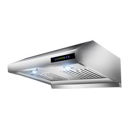 "AKDY - AKDY AK-Z1802SF 30"" Under Cabinet Range Hood Stainless Steel Kitchen Vent Hood - This AKDY 1802 30"" under cabinet range hood removes cooking odors from your kitchen quickly using its 3-speed, 870 cfm centrifugal exhaust fan. The baffle filter helps eliminate grease from the air and is washable for easy cleanup. This beautiful range hood is strong, dependable, powerful and efficient."