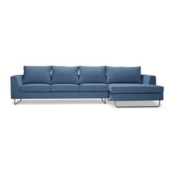 Asher Fabric Chaise Sectional - PRODUCT DESCRIPTION