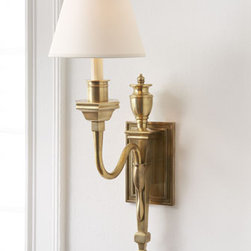 """Winslow"" Sconce - With understated elegance, the ""Winslow"" Sconce is a sconce you could use in any room of your home.      * 8""W x 14.5""D x 27""T."